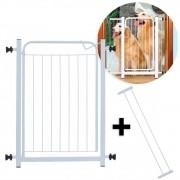 Portão Açomix Branco c/ extensor 10 cm