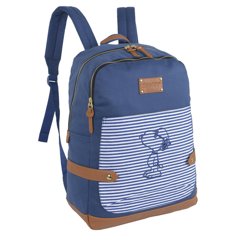 c9d18e95947 Mochila Luxcel Snoopy Laptop Feminino Azul 11995