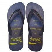 Chinelo Coca Cola Motto CC3087 Masculino Azul
