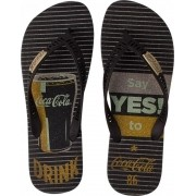 CHINELO COCA COLA YES! PRETO CC2881