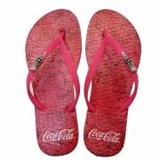 Chinelo de Dedo Coca Cola Flowers CC3145 Feminino Rosa
