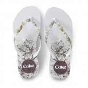 Chinelo de Dedo Coca Cola Sketch CC3072 Feminino Branco