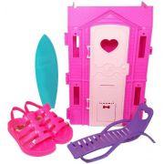 Sandália Infantil Feminina Barbie Casa De Praia Grendenekids