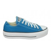 TÊNIS CONVERSE ALL STAR PLATAFORMA AZUL ACIDO CT09630016