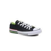Tênis Converse All Star preto Neon