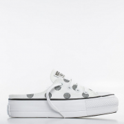 TENIS CONVERSE CHUCK TAYLOR ALL STAR LIFT MULE POÁ BRANCO CT15350002