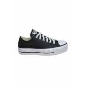 TÊNIS CONVERSE CHUCK TAYLOR ALL STAR PLATAFORMA COURO LIFT PRETO CT09830002