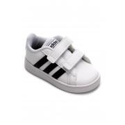 Tênis Infantil Adidas Grand Court - Branco e Preto