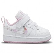 Tênis Infantil Nike Court Borough BRANCO E ROSA