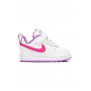 Tênis Infantil Nike Court Borough Low 2 TDV - Branco+Rosa
