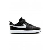 Tênis Infantil Nike Court Borough Masculino - Preto+Branco