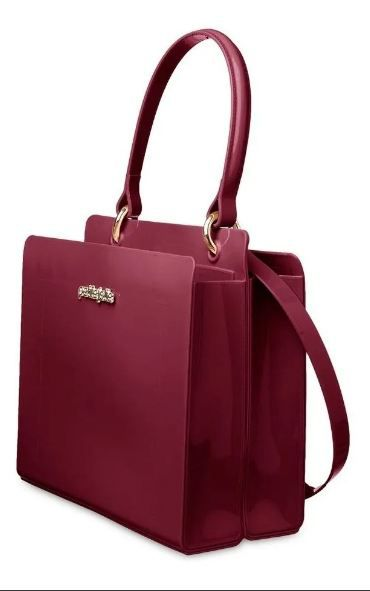 Bolsa Leave Bag Petite Jolie Ombro Tiracolo PJ4633 Vinho