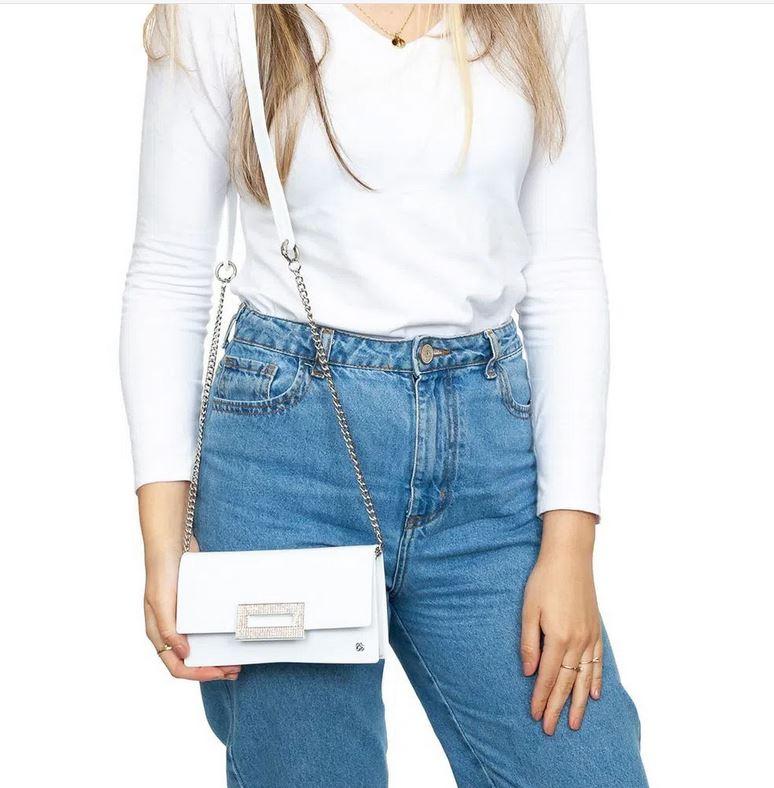 Bolsa Petite Jolie Long Wallet Branca PJ10021