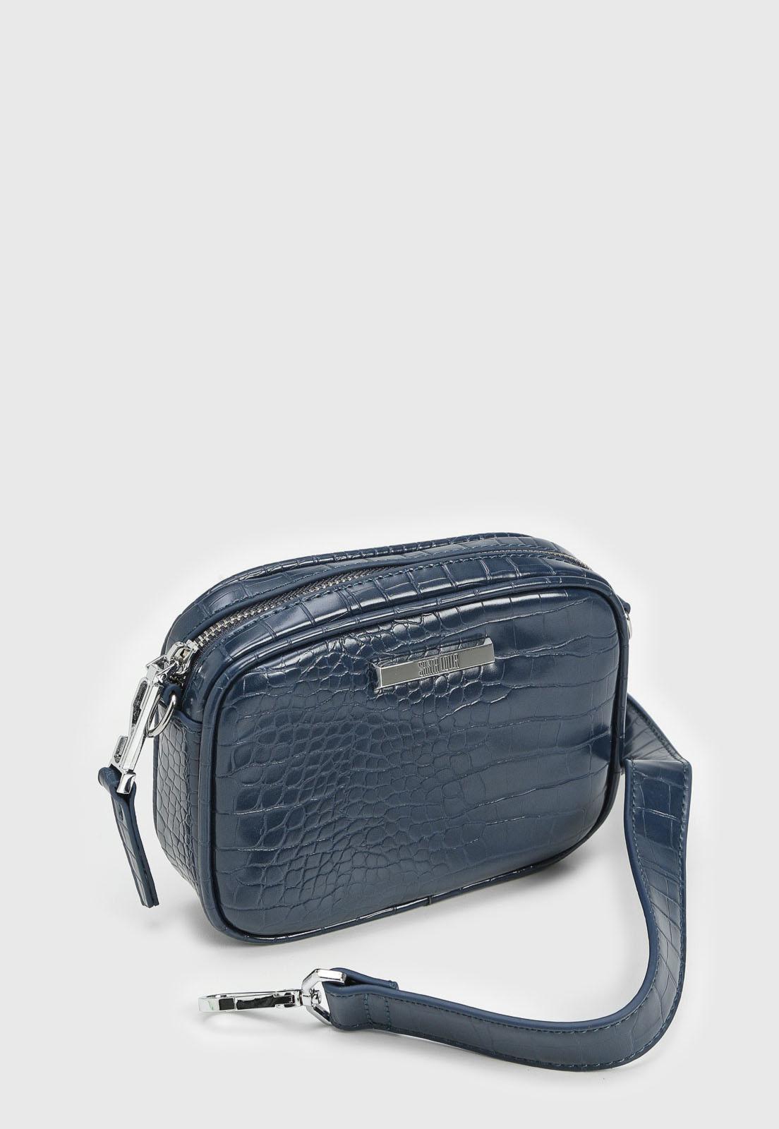 Bolsa Santa Lolla Croco Azul-Marinho Pequena