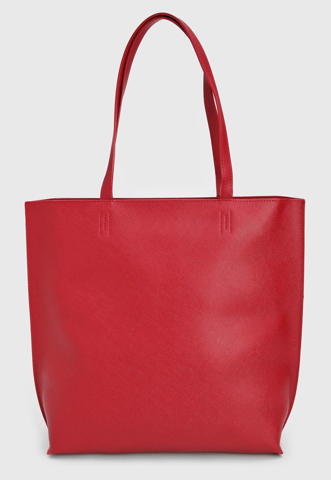 Bolsa Santa Lolla Grande Apliques Vermelha