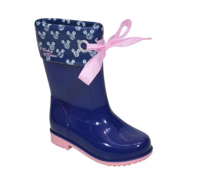 Bota Galocha Grendene Disney Style Infantil - Azul e Rosa