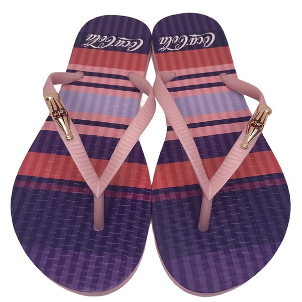 CHINELO COCA COLA COLORED LINES ROSA/ROSE CC3134