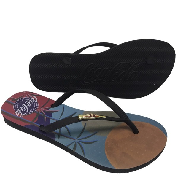 CHINELO COCA COLA TROPICAL BEACH CLUB PRETO CC3061