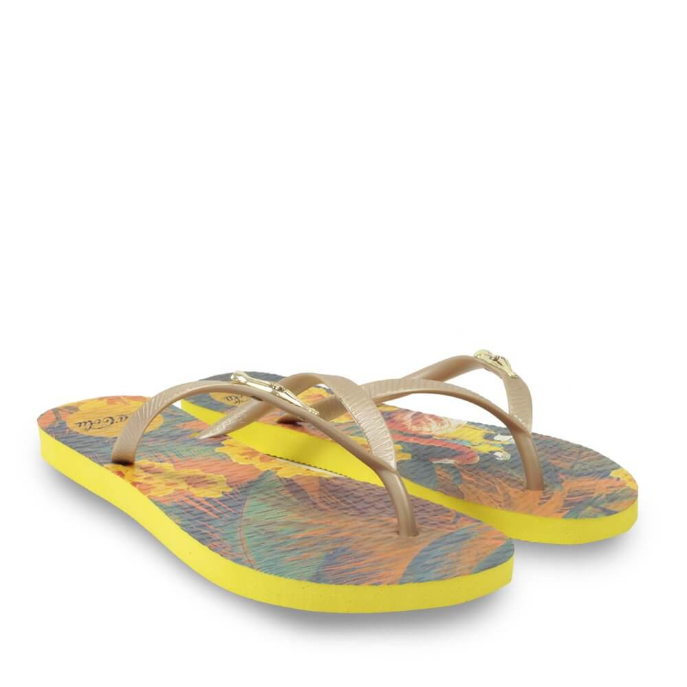 CHINELO COCA COLA TROPICAL SUMMER AMARELO CC2991