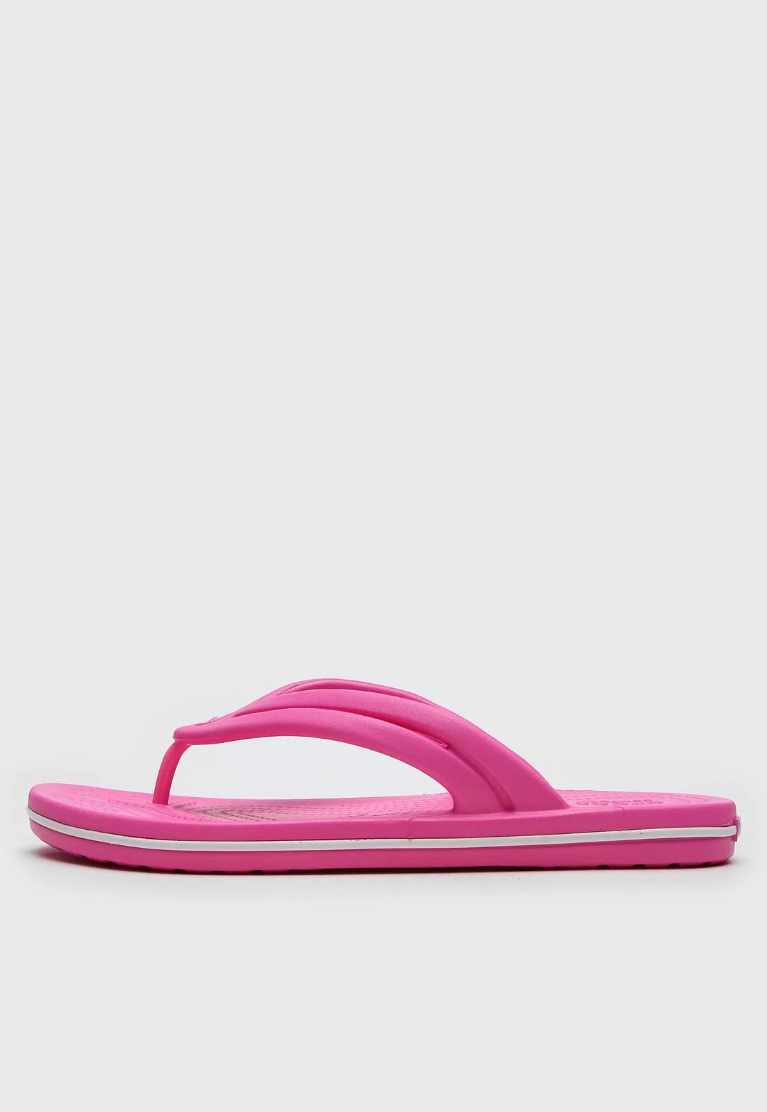 Chinelo Crocs Crocband Flip Eletric Rosa