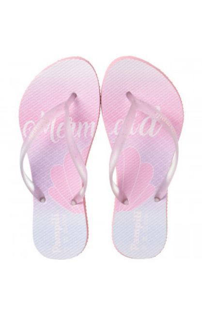 CHINELO PAMPILI LOVE TRANSPARENTE/BRANCO
