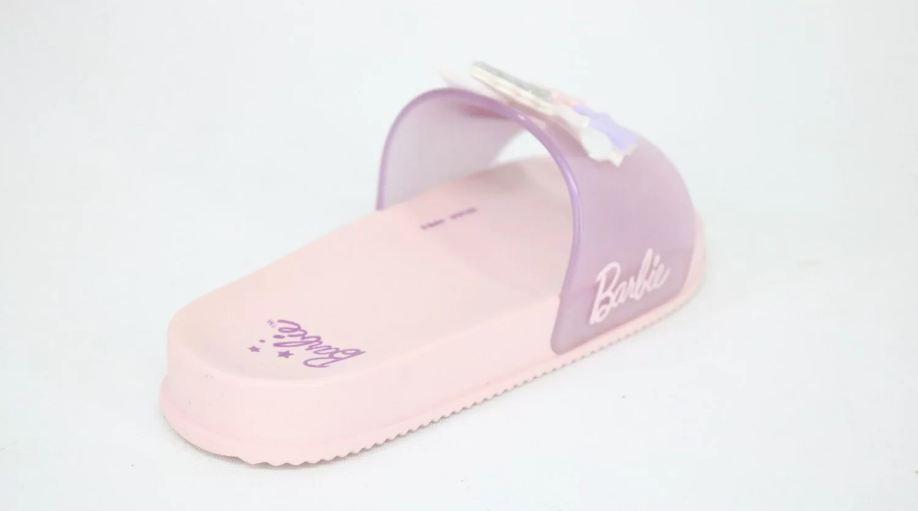 Chinelo Slide Grendene Barbie Unicórnio Rosa