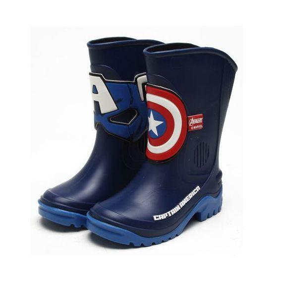 Galocha Grendene Kids Infantil Capitão América Avengers Azul/Vermelha