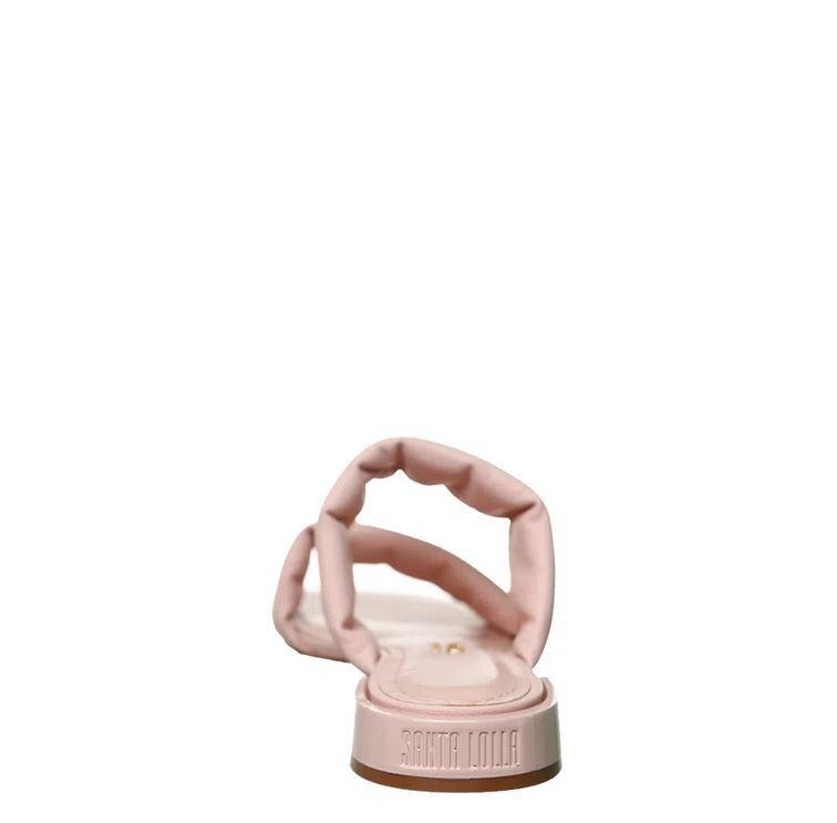 Rasteira Santa Lolla tira soft rosa