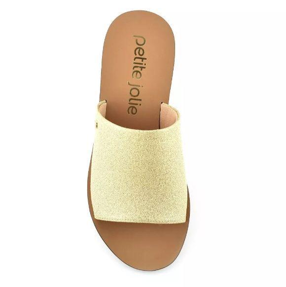 Rasteira Slide Petite Jolie ouro Pj3506