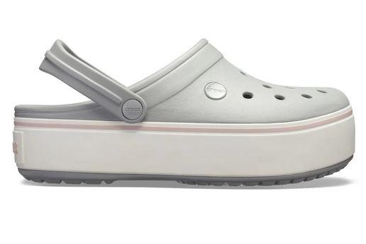 Sandália Clog Crocband Flatform Crocs - Cinza Claro