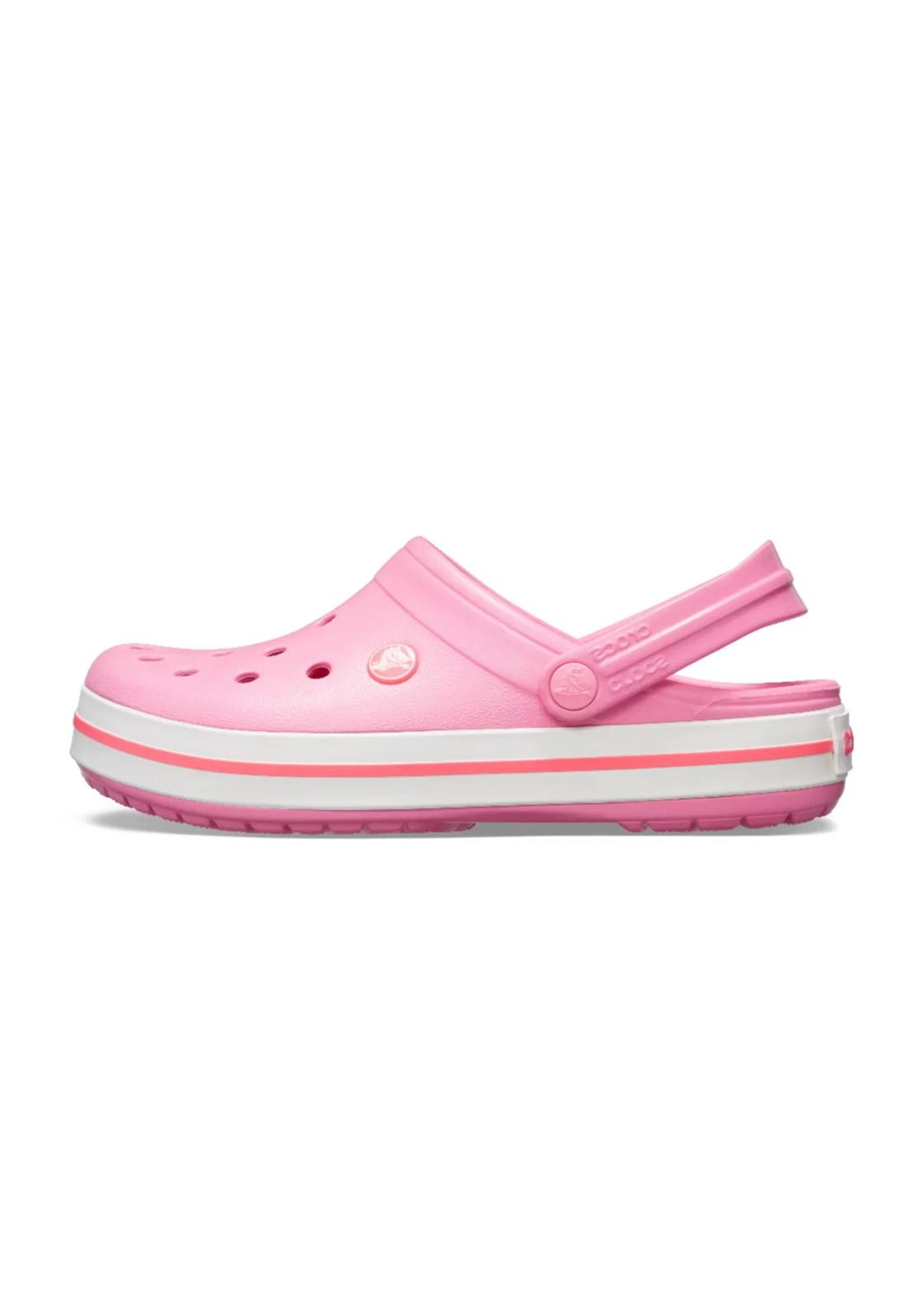 Sandália Crocs Crocband Rosa/Branco