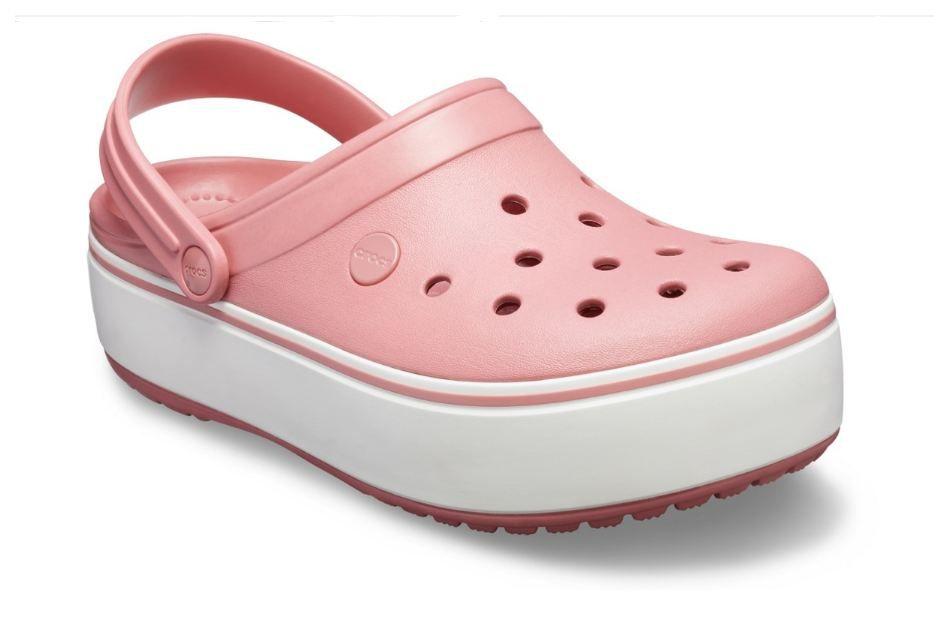 Sandália Crocs Crocband Rosa Plataforma