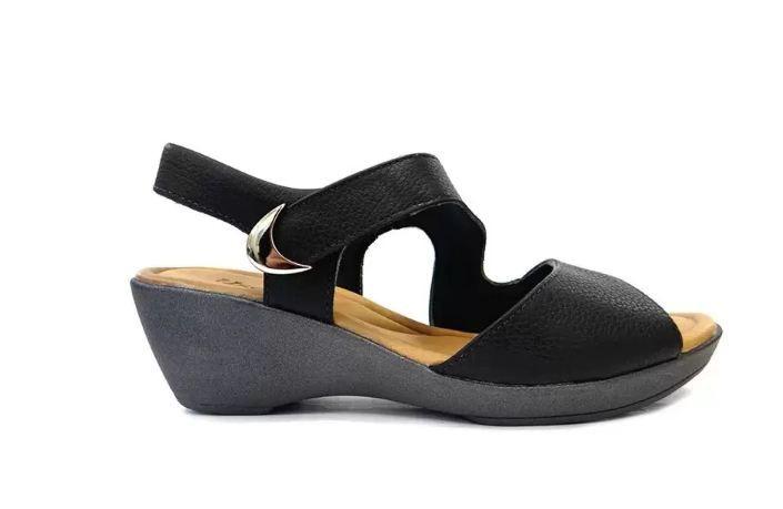 Sandalia de couro conforto usaflex I1490/51 preto