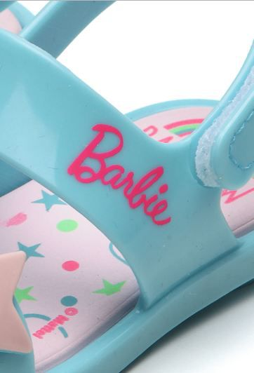 Sandália Grendene Barbie Beauty Azul 22073
