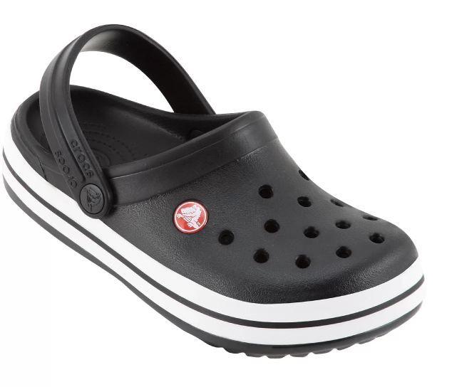 Sandália Infantil Crocs Crocband - Preto e Branco
