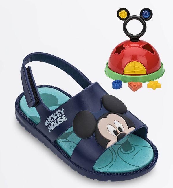 Sandália Infantil Mickey Acompanha Brinquedo Grendene Kids