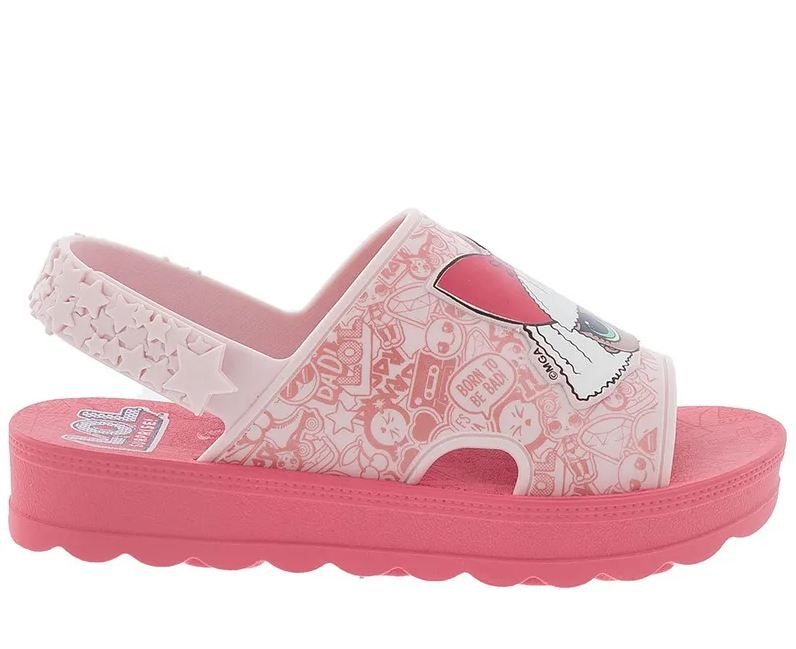 SANDÁLIA L.O.L SURPRISE HIT COLLECTION FLATFORM ROSA