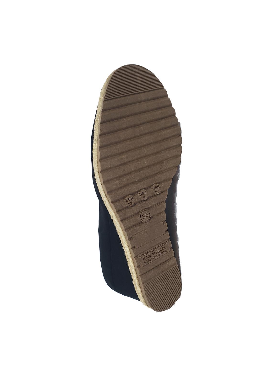 Sapato Anabela Bebecê Nobuck preto