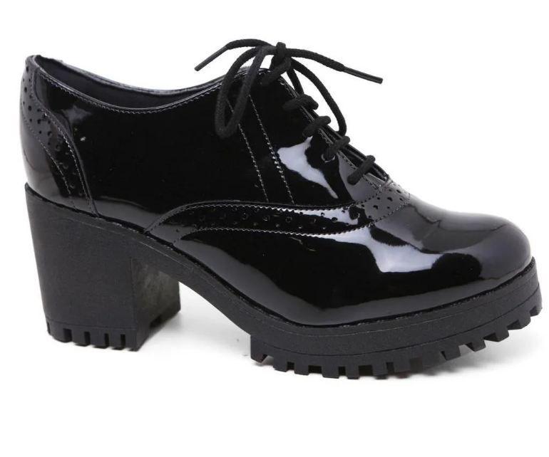 Sapato Bebecê 5614-429 Oxford Salto Tratorado
