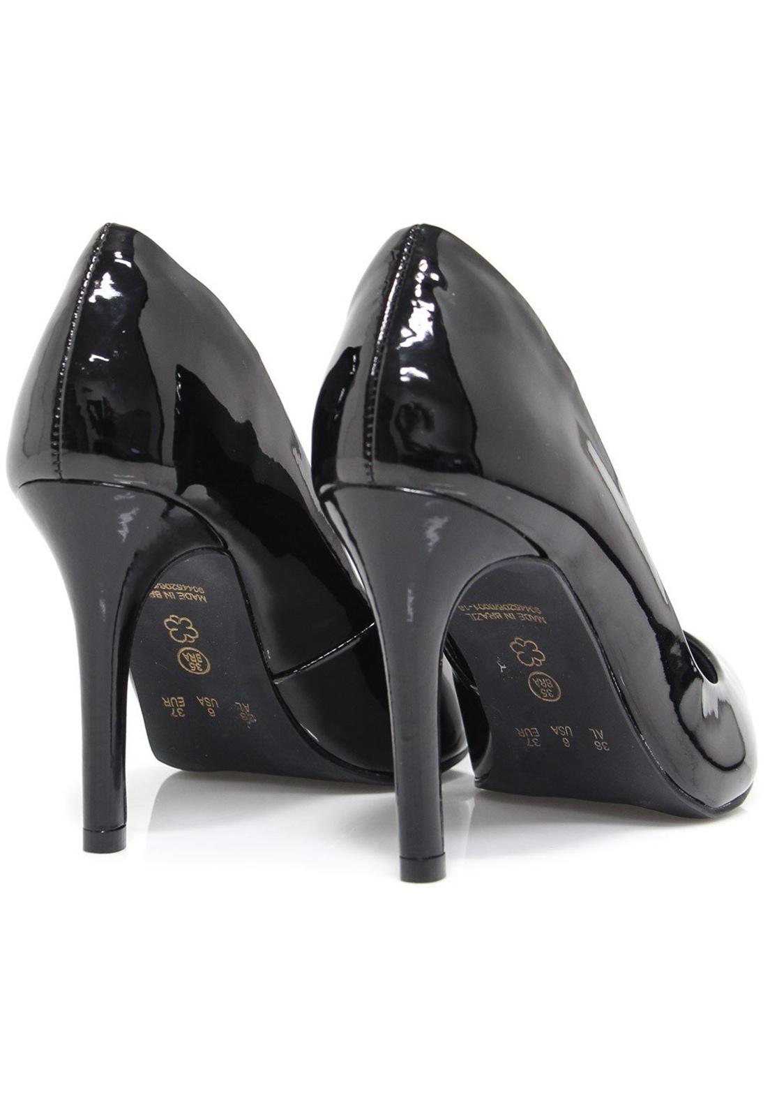 Sapato Bebecê Scarpin Verniz Preto