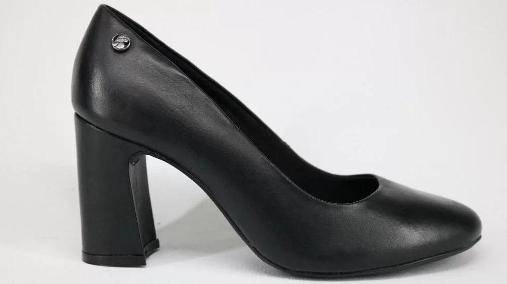 Sapato Bottero Couro Salto Grosso Preto 286201