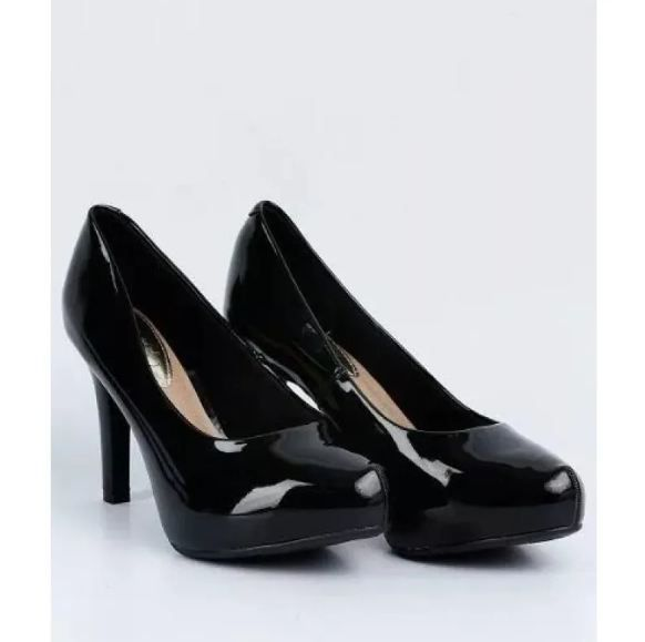 Sapato Feminino Meia Pata Verniz Beira Rio 4180.200 - Preto