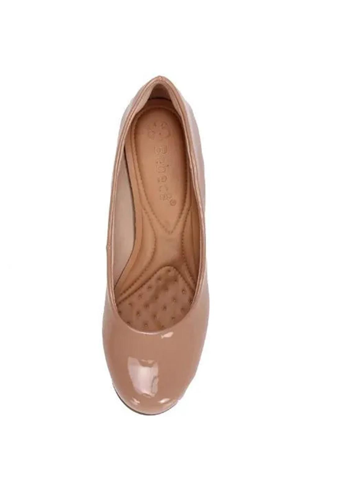 Sapato Boneca Salto Grosso Bebecê Nude