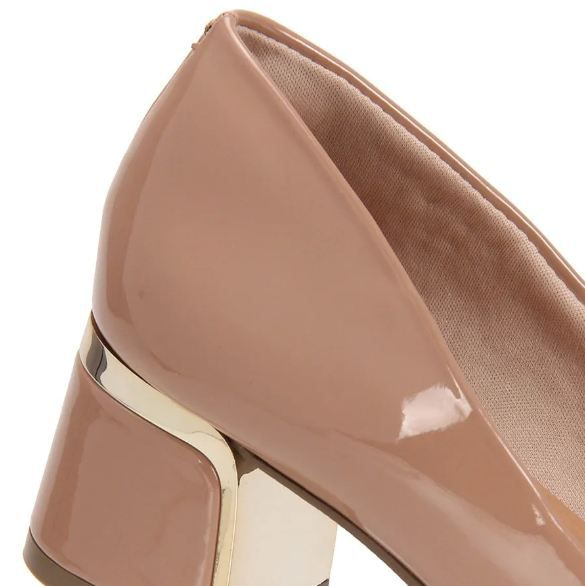 Sapato Salto Grosso Bebecê Nude 6316