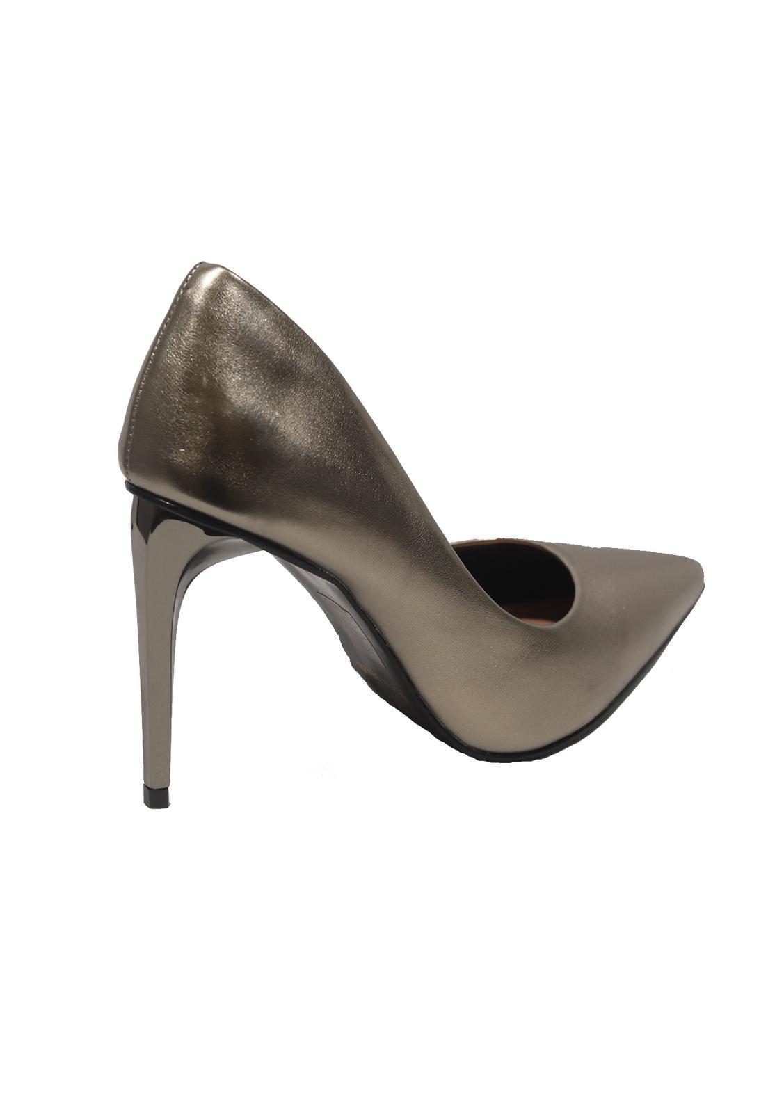 Sapato Scarpan Social Invoice Metalizado