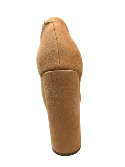 Sapato Vizzano Meia Pata 1835.101 Nude Camurça Flex