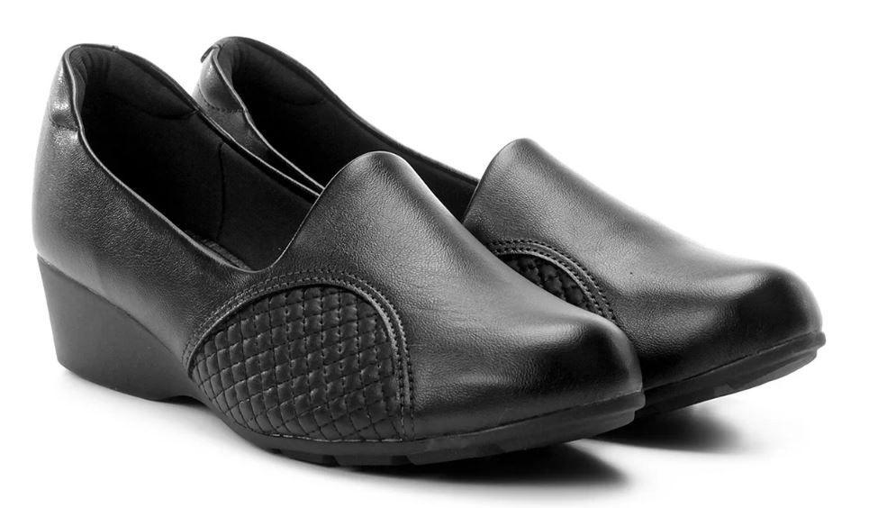Sapato Scarpin Anabela Modare Preto 7014