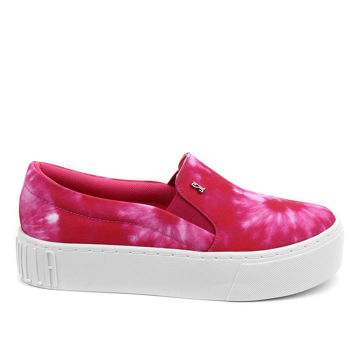 Slip On Santa Lolla Tie Dye Lona Feminino - Pink