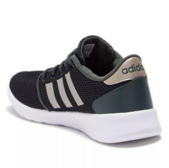 Tênis Adidas Feminino Qt Racer - Cinza/verde Escuro F34785