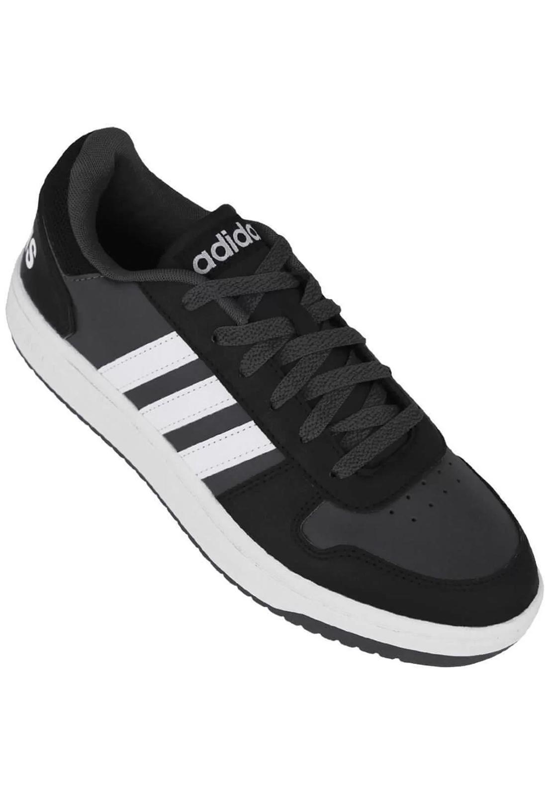 Tênis Adidas Hoops 2.0 Grafite e Preto